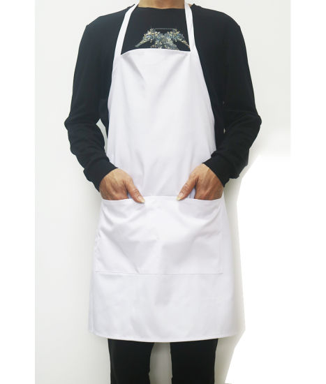 High Quality Customise Catering Chef Coffee Bar White Bib Apron