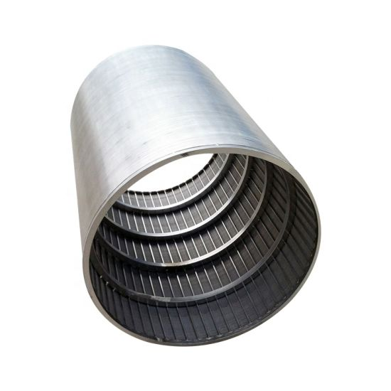 Stainless Steel/Galvanized Wedge Wire Screen Cylinder Tube