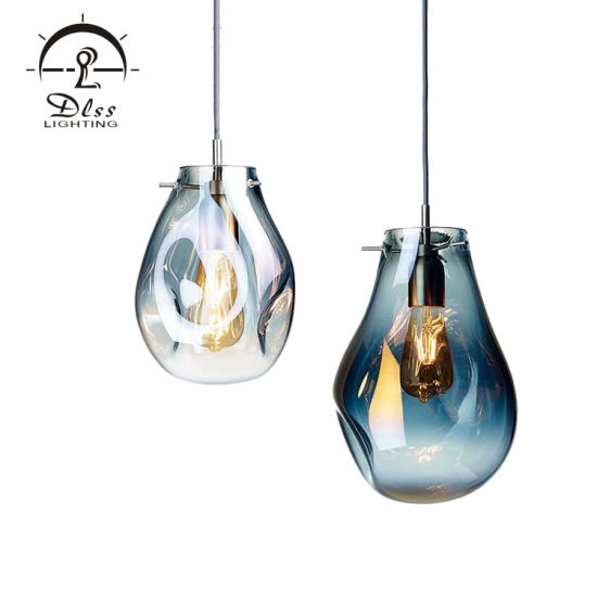 Zhongshan Factory Unique Hollow Glass Pendant Lamp