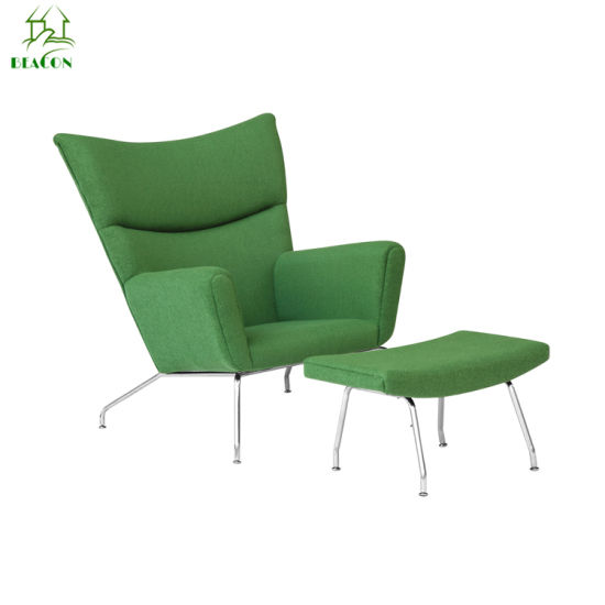 Modern Office Simple Reception Chair Fabric Velvet Upholstered Designer Living Room Leisure Lounge Wing Chair