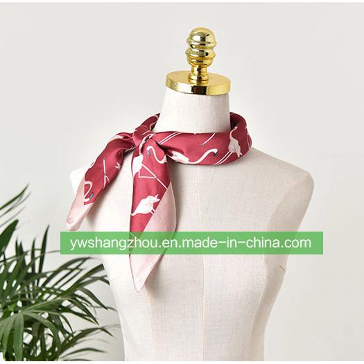 70*70cm Satin Silk Cravat Printed Fashion Gift Square Scarf