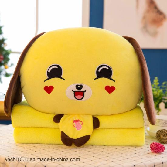 Custom Wholesale Multifunction Plush Soft Stuffed Cushion Quilt Animal Toy