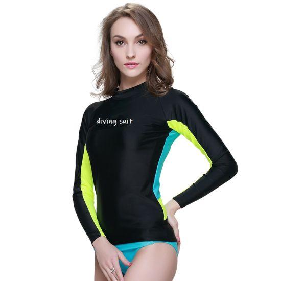 Lycra Rash Guards Diving Suit Swimwear Surfing Suit for Beachwear Diving for Girl