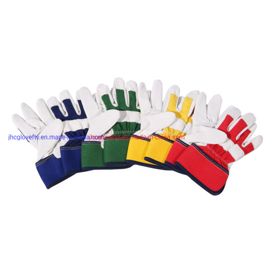 White Color Pigskin Leather Work Glove