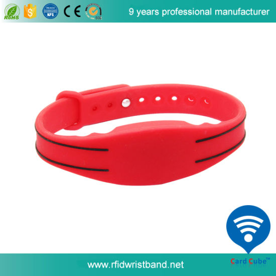 Waterproof RFID Silicone Wristband for Swimming Pool