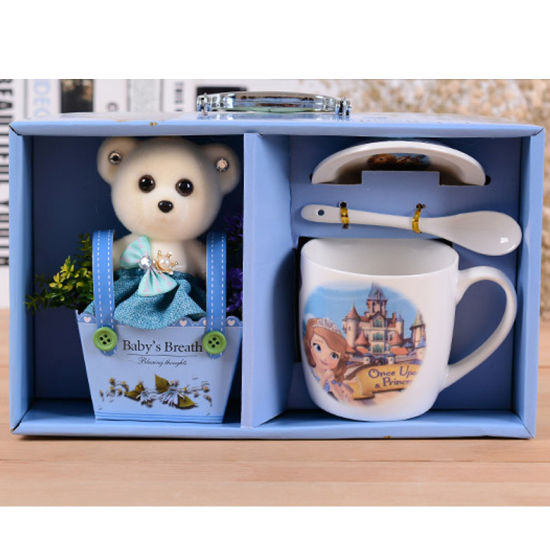 Wholesale Gift Box Packing Assorted Carton Coffee Cups Porcelain Ceramic Mugs for Child Gifts
