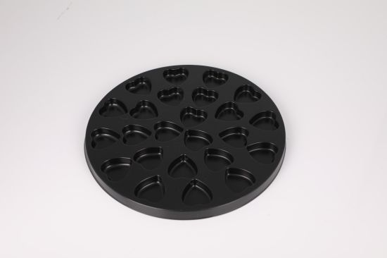 Round Black Food Inner Plastic Tray Packaging for Chocolate