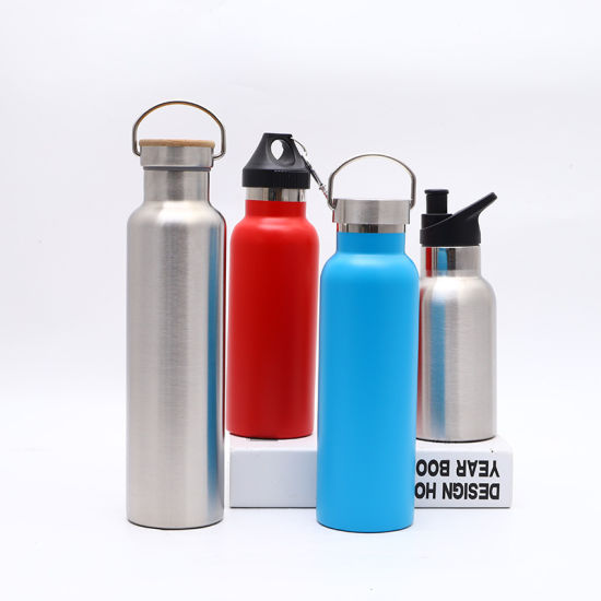 304 Stainless Steel Double Wall Outdoor Car Travel Sport Water Bottle Tumbler with Different Lids