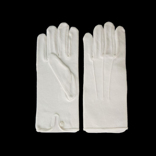 China Marching Band Cotton Hand Job Hosiery Gloves With Strips Snap Enclosure China Gloves With Strips Snap And Marching Band Cotton Gloves Price