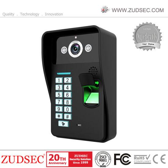 China Wired Fingerprint & RFID Card Video Door Phone