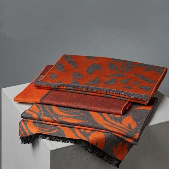 Oblong Silk Scarf 100% Silk Brushed Scarf