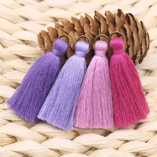 Wholesale More Colors 4.5cm Lace Tassel Trim for Decoration