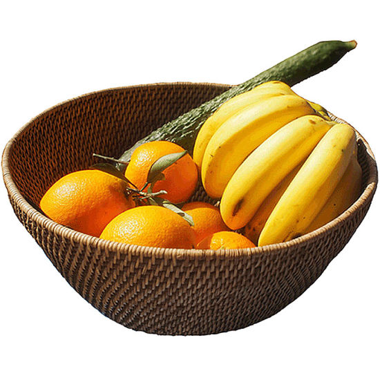 Rattan-Weaved Fruit Basket Vegetable Baskets Wicker Willow Storage Basket pictures & photos