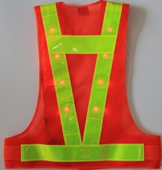 Polyester Work Wear PPE LED Light Work Wear Reflective Vest