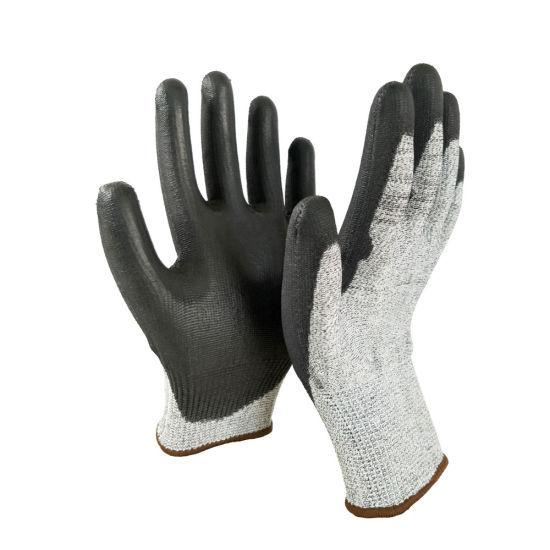 Hppe Liner Sandy Latex Coated Cut Resistance Work Safety Gloves
