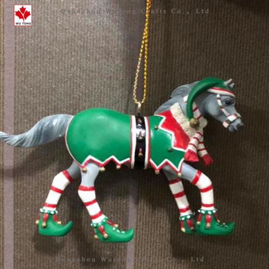 Enjoyable Xmas Tree Hanging Ornament Gift Home Decor Resin Christmas Horse Interior Design Ideas Truasarkarijobsexamcom