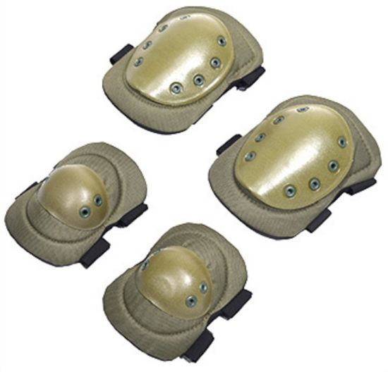 Wholesale and Retail Army Knee and Elbow Pads for Military Style Knee and Elbow Guards Factory Direct Army Green