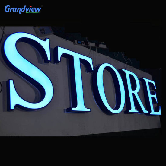 LED Illuminated Letters Outdoor 3D Acrylic LED Channel Letters Sign