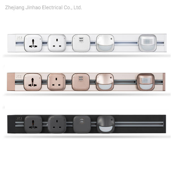 P4 Type Flexible USB Power Electric Office Kitchen Plug Sockets