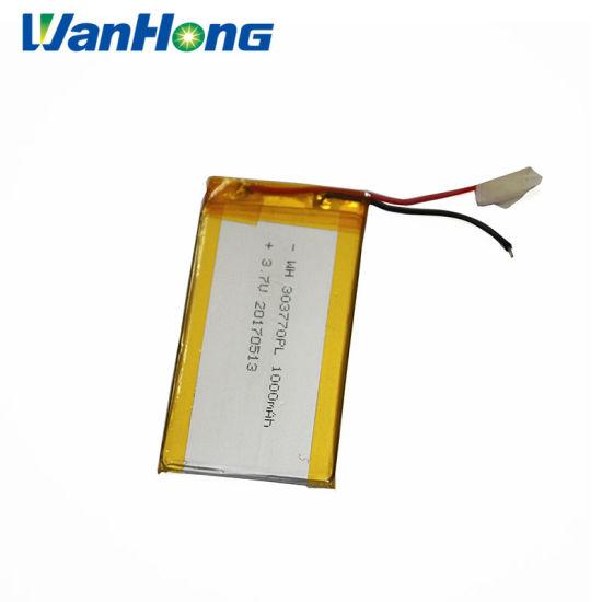 Li-ion Battery 3.7V 1000mAh 303770PL 1000mAh 3.7V Lithium Ion Battery Li-Polymer Battery for MP3 GPS