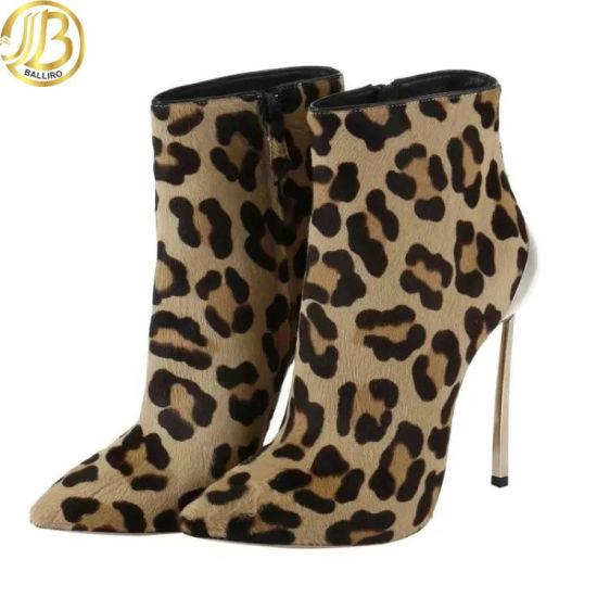 leopard print womens boots