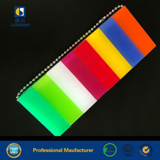 1.8mm-30mm White Black Yellow Red Green Blue All Color Perspex Cast Acrylic Sheet