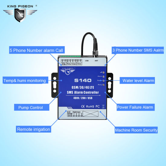 China GSM SMS Controller S140 GSM Access Control and Home