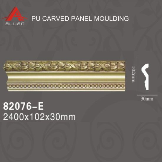 82076-E# PU New Style Waterproof Victorian Cornice Moulding for Ceiling Decorative Roof Cornice Moulding Prices in China