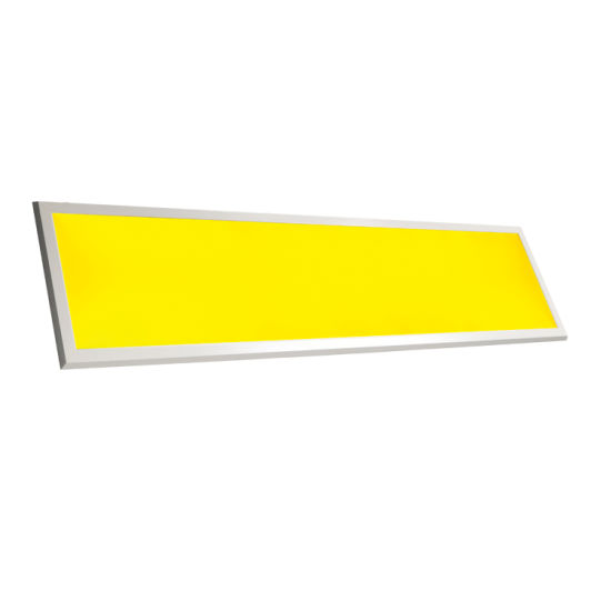 Yellow Light Anti Blue Light Engineering LED Beveled Flat Panel Clean Lamp 18W for Museum