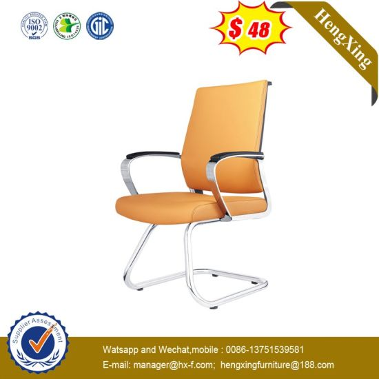 Modern Chrome Metal Base Hospital Office Meeting Room Leather Conference Visitor Chair pictures & photos