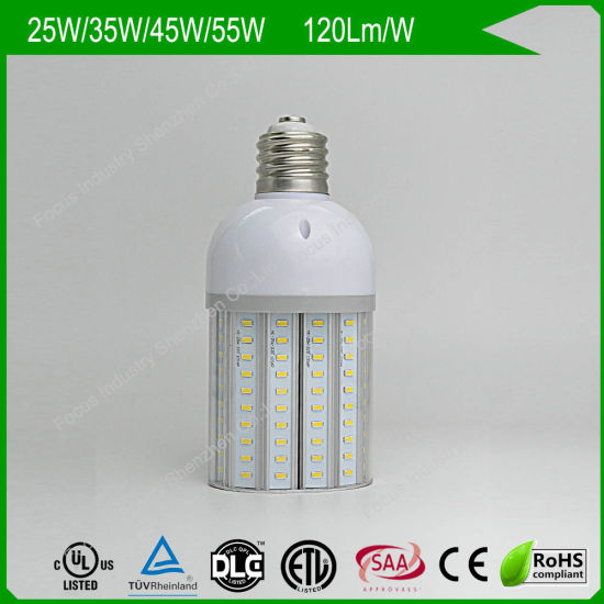 TUV Dlc 25W 180d LED Corn Bulbs HPS/Mhl/HID Replacement for Wall Pack/Canopy/Area Light pictures & photos