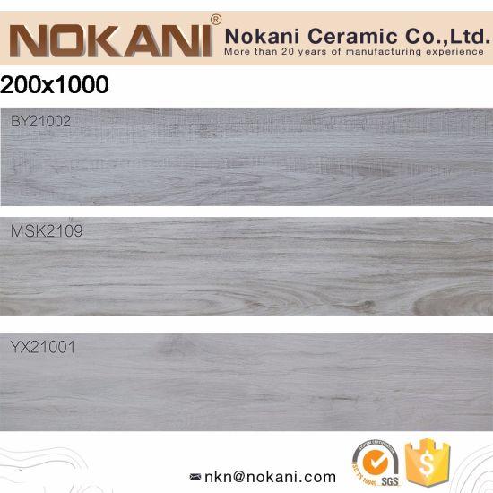China Light Color Wood Plank Porcelain