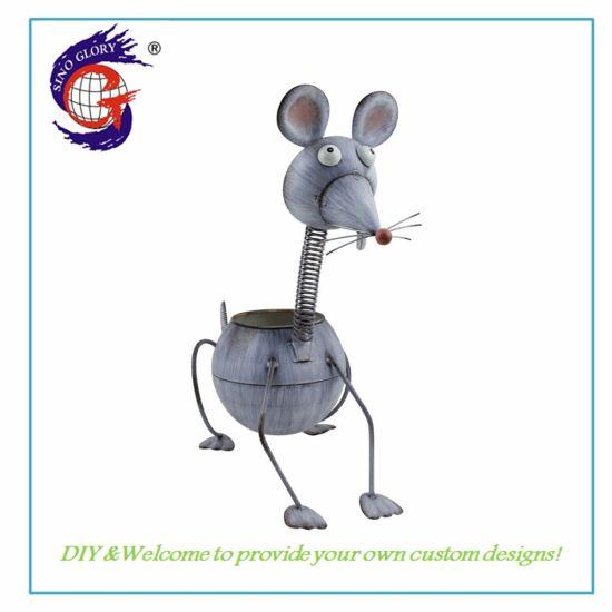 Creative Cartoon Mouse Shape Animal Flower Pot Decoration