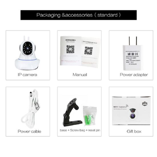 Smart Camera with 360 Eyes and WiFi Connect