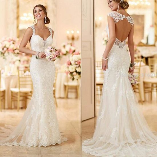 New Style Sexy Fashion Slim Lace Fish Tail Wedding Dress
