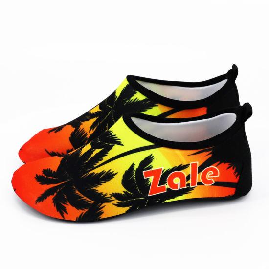 Custom Full Color Printing Unisex Beach Swimming Barefoot Sock Antislip Aqua Quick Dry Water Sea Beach Shoe