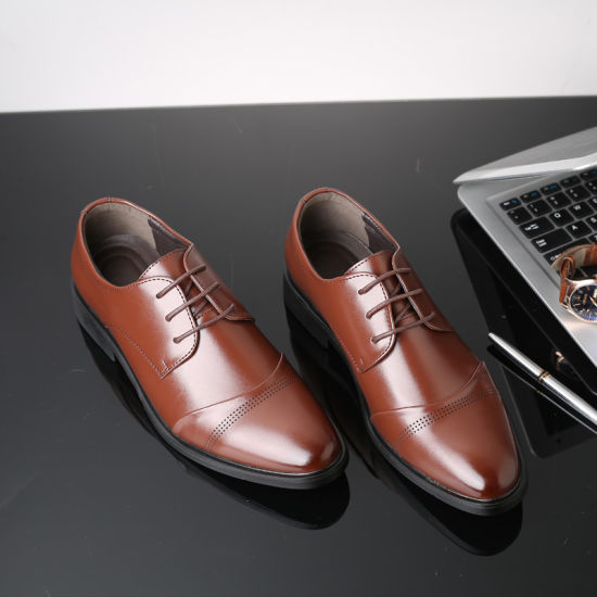 Pointed Leather Shoes, High-End British Men's Business Suit Shoes, Wedding Shoes