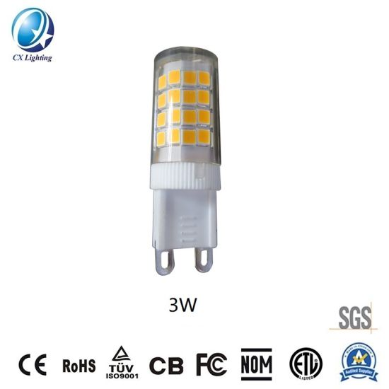 G9 SMD E12/E14 LED Lamp Beads 3W 320lm 120V or 230V Ce RoHS 2700-6500K Warranty 3 Years IP44