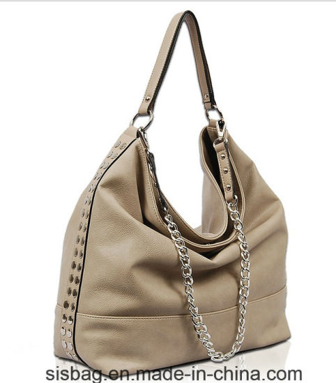High Quality Full Rivets PU Hobo Bag Women Shoulder Bag pictures & photos