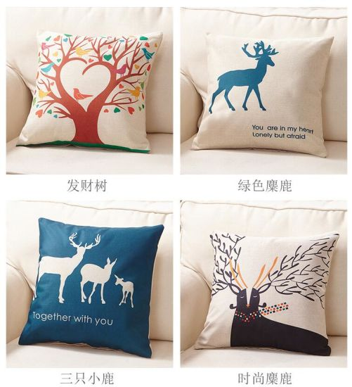 100% Cotton Decorative Throw Pillow Case Cushion pictures & photos