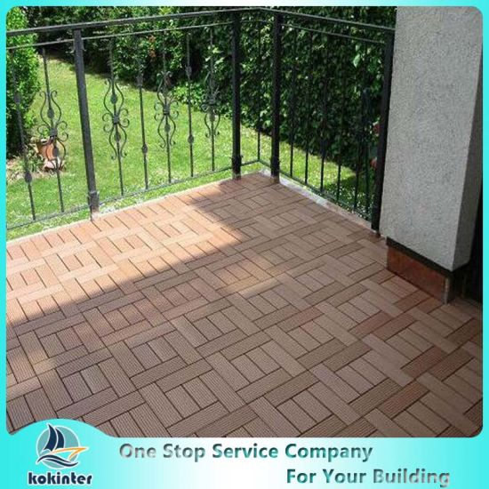 Waterproof WPC DIY Floor Tiles WPC Interlocking Plastic Base Deck pictures & photos