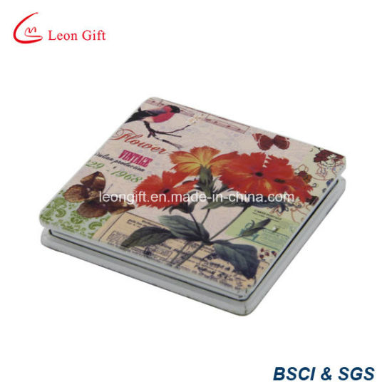 Aluminum Square Digital Printing Pocket Mirror pictures & photos