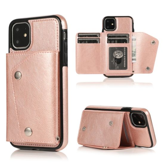 Card Slot Wallet PU Leather Mobile Phone Case for iPhone 11/Xs Samsung Hard Case pictures & photos