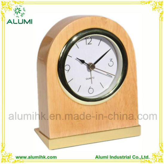 Table Wooden Alarm Clock for Hotel Equipment