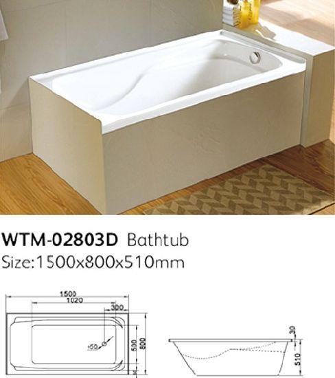 America Standard Acrylic Drop In Bathtub With Tile Flange