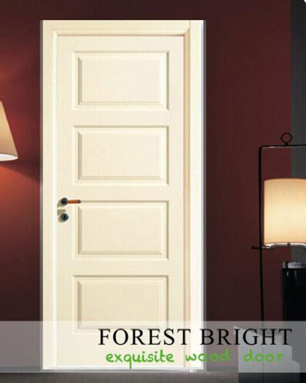 CNC Carving MDF Panel Door, Softwood Core Hotel Interior Door