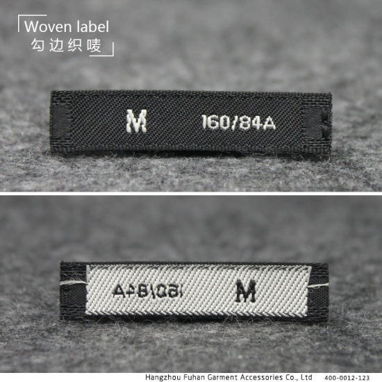 Custom Simple Size Die Cut Clothing Side Woven Labels pictures & photos