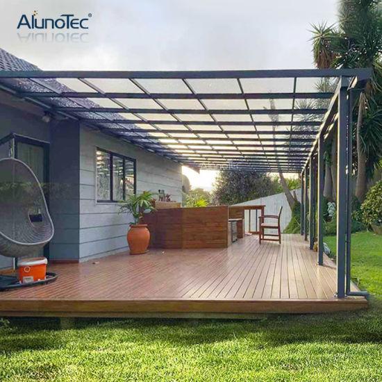 DIY Sunblock Polycarbonate Outdoor Garden Backyard Aluminum Metal Sun Shade Terrace Balcony Patio Canopy for Sale