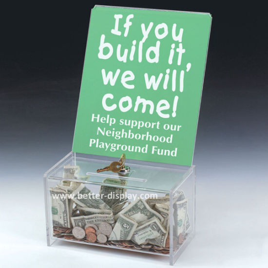 Custom Donation Collection Box with Paper Card (BTR-Y1007)