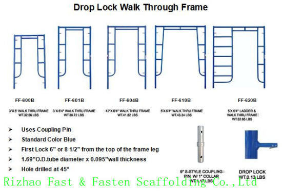 American Standard Walk Thru Frame for Construction Scaffold pictures & photos